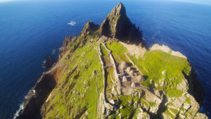 more aerial drone images of monastery on Skellig MichaelSkellig Michael