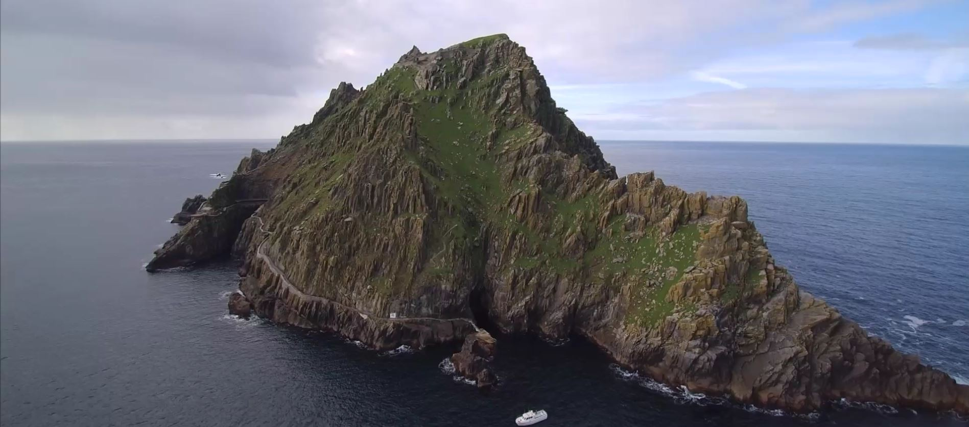 skellig michael from the air