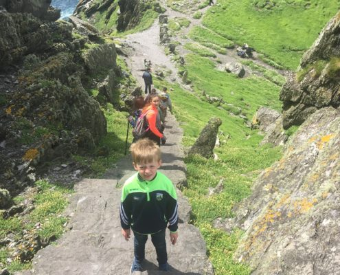 Climbing 640 steps of Skelligs