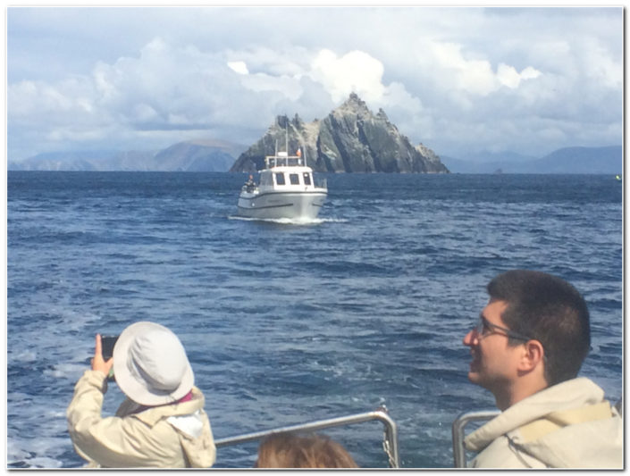 A snapshot of their day visiting skellig michael