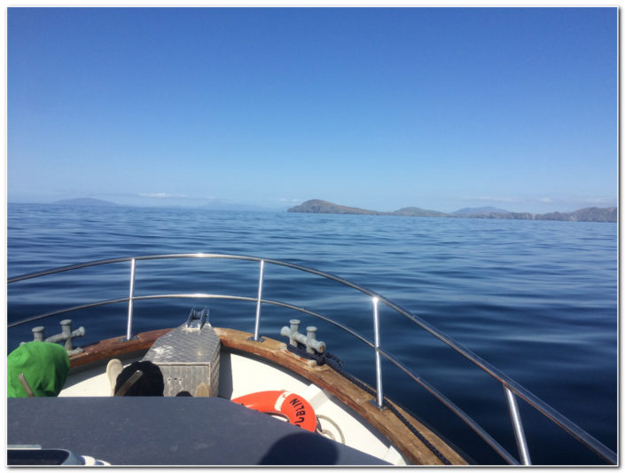 calm seas on way back from skellig islands