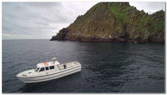 Maber Therese II moored at Skellig Michael